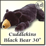 Wild Republic Cuddlekins Black Bear 30 inch