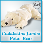Wild Republic Cuddlekins Jumbo Bear Polar
