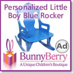 Personalized Little Boy Blue Rocker