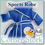 Cute Blue Baby Boy Sports Robe
