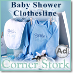 Blue Baby Shower Clothesline
