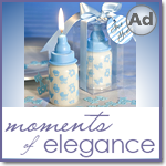 Blue Baby Bottle Candle Favors