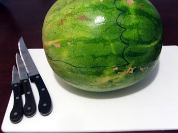 how to make an elephant out of watermelon